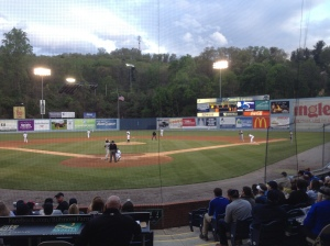 Tourists vs. Crawdads at McCormick Field