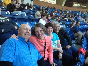 Vestal, Janet and Susan and Jeff Nopper at the Tourist game