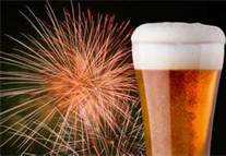 fireworks beerchaser miscellany with beer glass