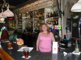 April, the friendly bartender