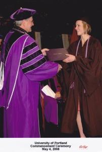 Laura Williams receiving her BS in Nursing in 2008