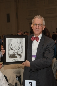 Westwood with caricature of his hero - George Washington
