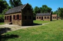 The slave quarters - quite a contrast.....