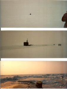 Sequence of pictures surfacing at the North Pole in the Spadefish