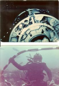 Underwater dives during ____
