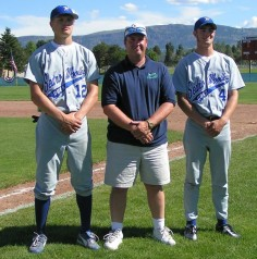 All-State in baseball, football and basketball at Sedro Wooley Tygue on left)
