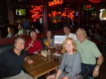 The Faust clan, Jim Westwood and Jennifer Johnson at Kelly's Olympian
