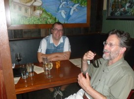University of Portland's Dr. Sam Holloway and Brian Doyle at the St. John's Pub