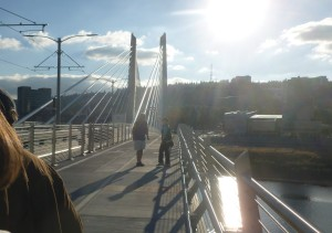 Great views from Tilikum Crossing
