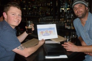 Marcus and Nick with Thebeerchaser logo