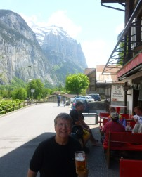 Outside the Horner Pub in Lauderbrauden, Switzerland