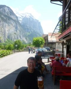 Outside the Horner Pub in Lauderbrauden, Switzerland