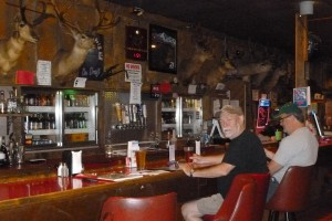 Dave, Steve and animals at the Central Pastime in Burns