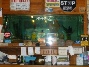 "The legendary ""Death Tank"" at the Tide Pool Inn in Depoe Bay"