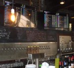 The impressive tap list is displayed digitally
