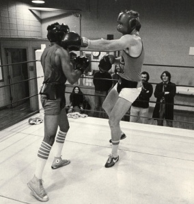 Sparring with Ray Lampkin