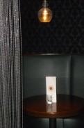 Curtained booths