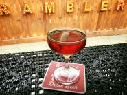 Christian's boulevardier - bourbon, sweet vermouth and campari