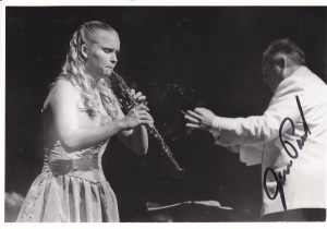 """A """"young"""" Kelly at a recital while at Hared Conservatory"""