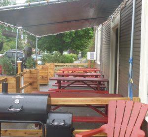 Small patio area