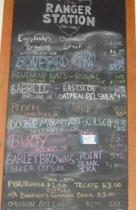 A small but diverse group of micro-brews on tap