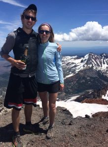 Ryan popped the question - and a bottle of champagne at the summit of the South Sister in 2015