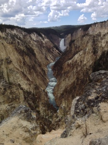 Yellowstone Falls - may look like a painting but the real thing!