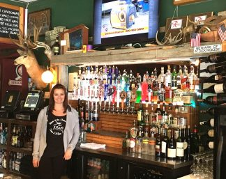 Bartender, Tara, at the Moose Lounge