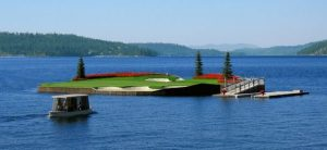The famous Floating Green - I need a drink.....