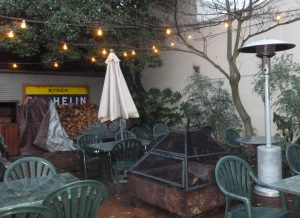 Nice patio - when it is not raining...
