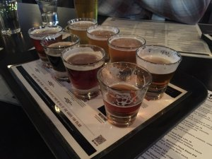 The beer sampler (courtesy of Don V Yelp reviewer)