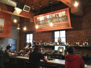 The mezzanine bar - nice bar selection