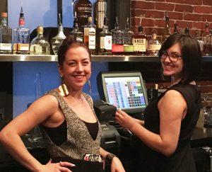 Outstanding server, Kelsey and bartender, Leah
