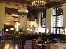 The upscale interior of the Majestic Lodge