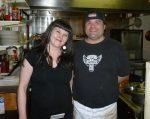 Sam and Jimmie at Crackerjacks - outstanding food