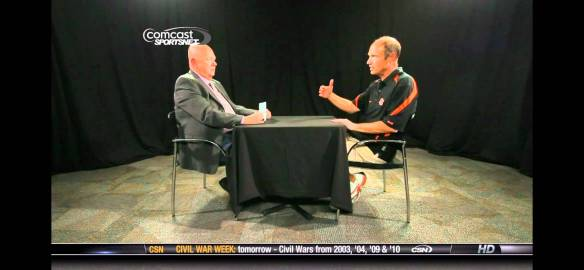 Interviewing former Oregon State Beaver football coach, Mike Riley