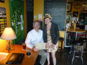 Sam Adams and the owner of Portobello