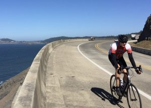 Eller on Cycle Oregon trip
