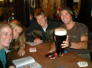 """Drinking from """"The Boot"""" at Prost."""
