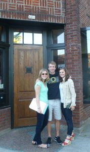 Laura Williams, Ryan Keene (now married....!) and Kenzi Larson at Stammtisch