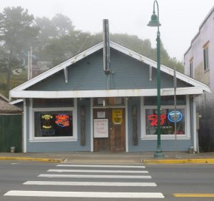 The Old O with crosswalk in front in Lincoln City