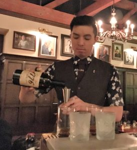 Jason, our personal bartender