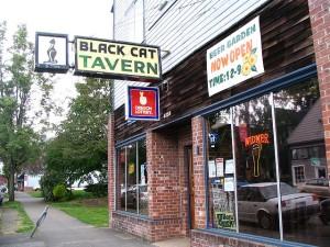 The historic Black Cat Tavern - gone but not forgotten. (Photo courtesy of Vicki Jean Beacuchamp