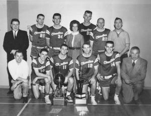 No. 34 - third from the left in back row - former U of O basketball star, Dale Herron
