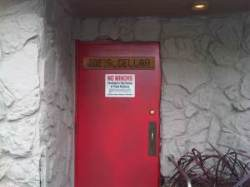 The entrance to Joes Cellar