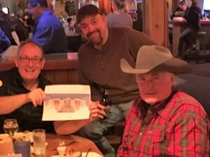 Jerry Calahan, Steve Oltman and Patrick Whitmore with Thebeerchaser logo