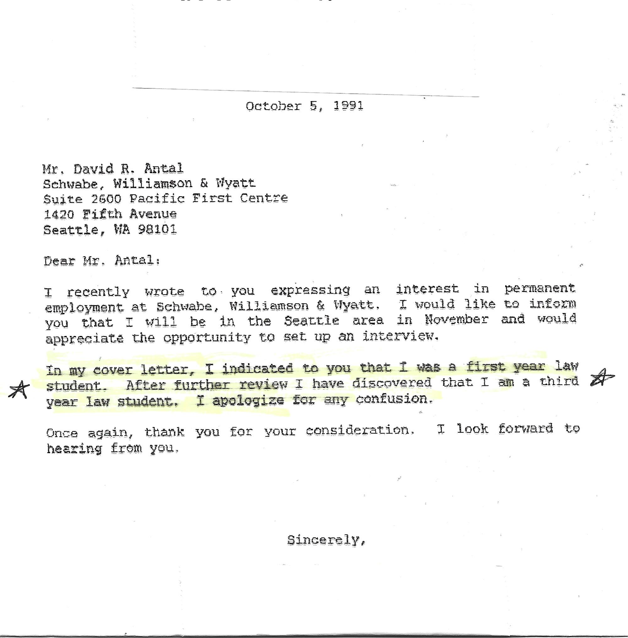 Law clerk letter 1